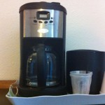 All guest rooms come equipped with a coffeemaker.
