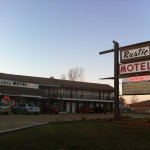 The Rustic Motel sign